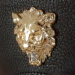 String Cuir Lion Or