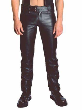 Pantalon largo Jeans de Cuero