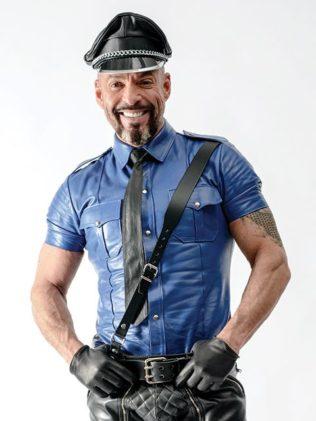 Camisa Policia de Cuero